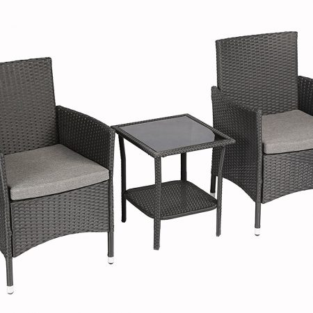 Baner Garden 3PC Outdoor Wicker Conversation Set