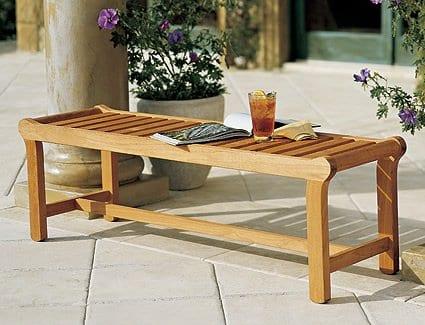 13-luxurious-grade-a-teak-backless-bench 100+ Outdoor Teak Benches