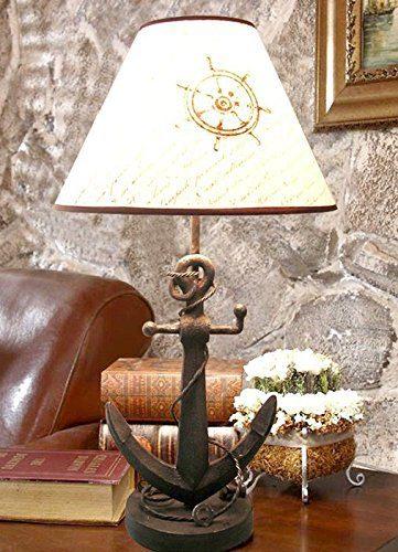 Nautical Anchor Chain Table Lamp