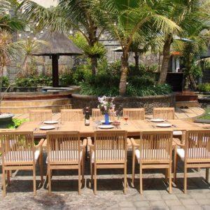 14-13pc-grade-a-teak-wood-patio-dining-set-300x300 51 Teak Outdoor Furniture Ideas For 2020