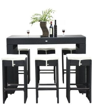14b-outsunny-7pc-black-wicker-barstool-dining-table-300x360 100+ Black Wicker Patio Furniture Sets For 2020