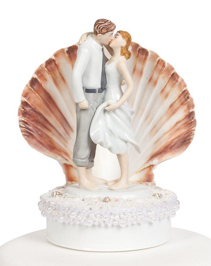 Prime Bride Groom Seashell Beach Wedding Cake Topper Gamerscity Chair Design For Home Gamerscityorg