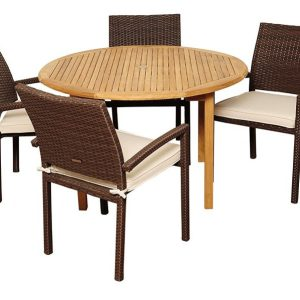 15-amazonia-teak-colorado-5pc-round-dining-set-300x300 Wicker Dining Tables & Wicker Patio Dining Sets