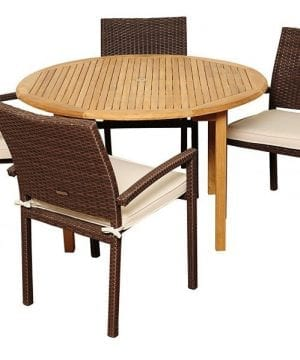 15-amazonia-teak-colorado-5pc-round-dining-set-300x360 Best Teak Patio Furniture Sets