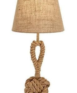 Metal Natural Looking Rope Table Lamp