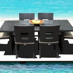 15-outdoor-brown-wicker-patio-dining-set-300x300 Wicker Dining Tables & Wicker Patio Dining Sets