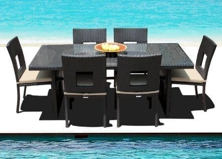 15-outdoor-brown-wicker-patio-dining-set-450x323 Wicker Patio Dining Sets