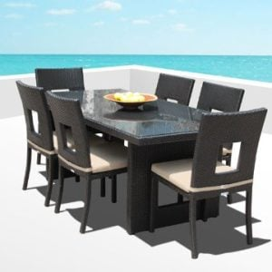 15b-outdoor-brown-wicker-patio-dining-set-300x300 Wicker Dining Tables & Wicker Patio Dining Sets