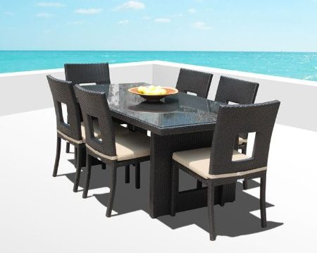 15b-outdoor-brown-wicker-patio-dining-set-450x359 Wicker Patio Dining Sets