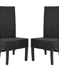Safavieh Black Medium Wicker Chairs