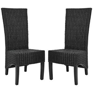 16-safavieh-black-medium-wicker-chairs-300x300 Wicker Dining Chairs & Rattan Dining Chairs