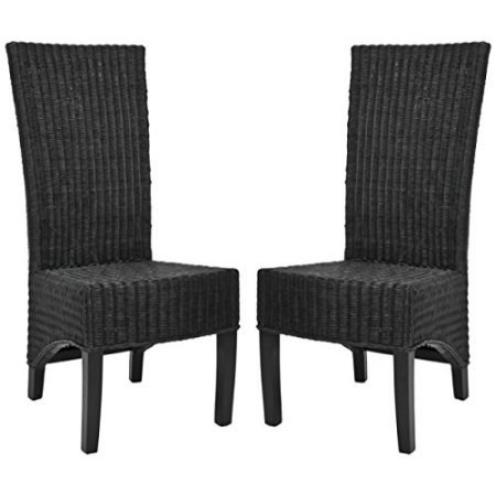 Safavieh Black Medium Wicker Chairs