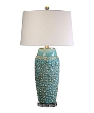 17-textured-turquoise-embossed-coastal-table-lamp-300x360 200+ Coastal Themed Lamps