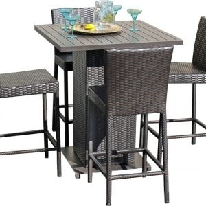 Napa Pub High Top Barstool Wicker Dining Set