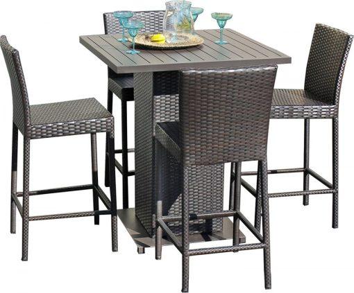 Napa Pub High Top Barstool Wicker Dining Set