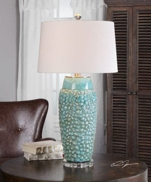 17b-textured-turquoise-embossed-coastal-table-lamp-300x360 200+ Coastal Themed Lamps