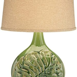 18-pacific-coast-green-palm-leave-table-lamp-300x300 Best Coastal Themed Lamps