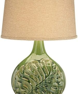 18-pacific-coast-green-palm-leave-table-lamp-300x360 200+ Coastal Themed Lamps