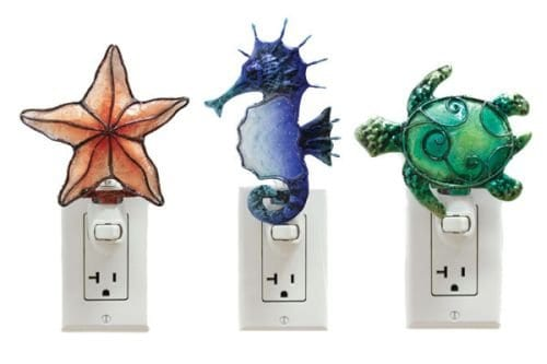 19-coastal-seahorse-turtle-starfish-night-lights Coastal Night Lights