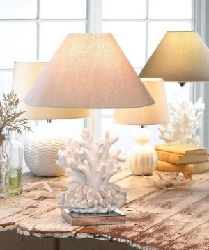 1b-Core-Of-Decor-White-Coral-Table-Lamp-300x360 200+ Coastal Themed Lamps