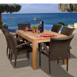 Amazonia Teak Brussels 7-PC Dining Set