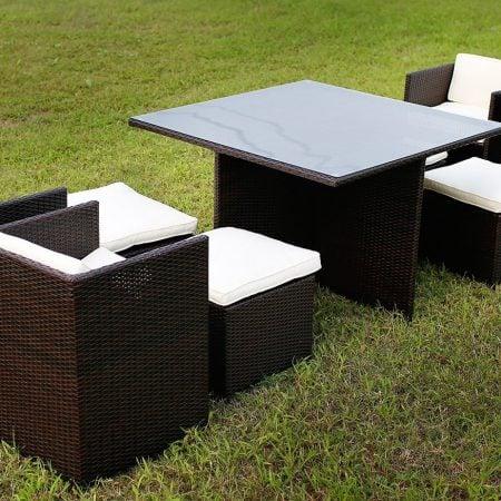 1b-merax-9pc-black-wicker-dining-set-450x450 Wicker Patio Dining Sets