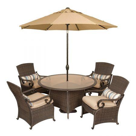 2-La-Z-Boy-Lake-Como-Wicker-Dining-Set-450x450 Wicker Patio Dining Sets