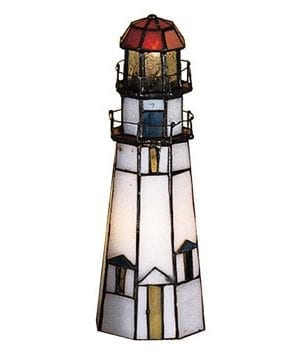 Meyda Tiffany Marble Head Lighthouse Lamp