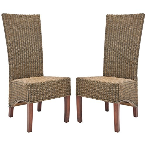 Safavieh Home Honey Brown Wicker Chairs