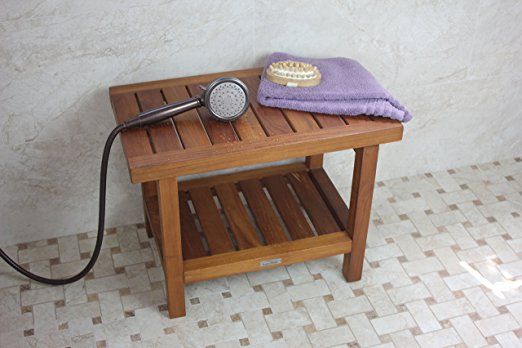 3-aquateak-original-spa-teak-shower-bench Outdoor Teak Benches