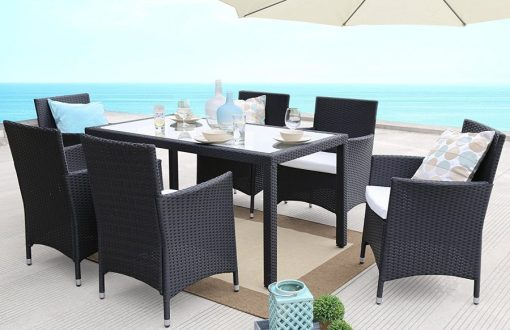 Baner Garden 7PC Wicker Dining Set