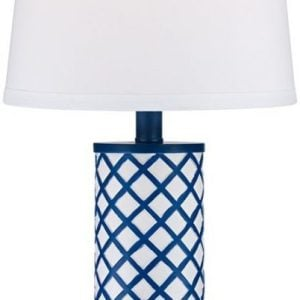 3-gisele-blue-lattice-column-table-lamp-300x300 Best Coastal Themed Lamps