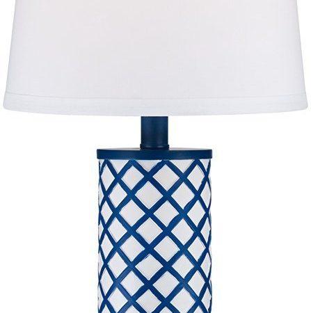 3-gisele-blue-lattice-column-table-lamp-447x450 Beach Themed Lamps