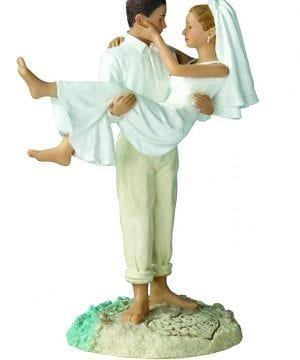 3-lillian-rose-just-married-beach-wedding-cake-topper-300x360 50+ Beach Wedding Cake Toppers and Nautical Cake Toppers For 2020