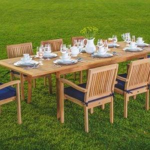 3-luxurious-9pc-grade-a-teak-dining-set-300x300 51 Teak Outdoor Furniture Ideas For 2020