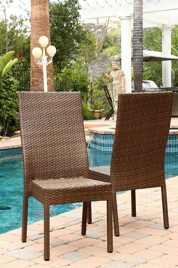 abbyson palermo wicker dining chairs 4