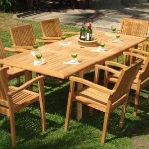 3b-luxurious-9pc-grade-a-teak-dining-set-300x300 51 Teak Outdoor Furniture Ideas For 2020
