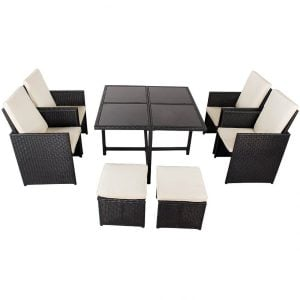 Toucan Outdoor 9PC Wicker Dining Set