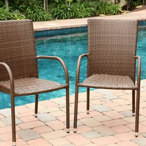 4-abbyson-living-outdoor-wicker-chairs-300x300 Wicker Dining Chairs & Rattan Dining Chairs