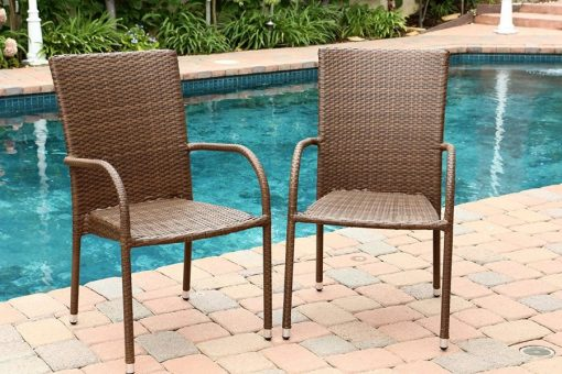Abbyson Living Outdoor Wicker Chairs (Set of 2)