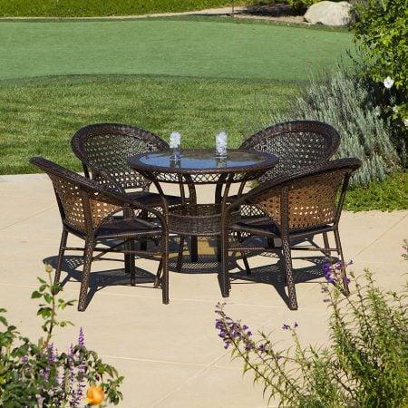 4-round-5pc-avondale-wicker-dining-set-450x450 Wicker Patio Dining Sets