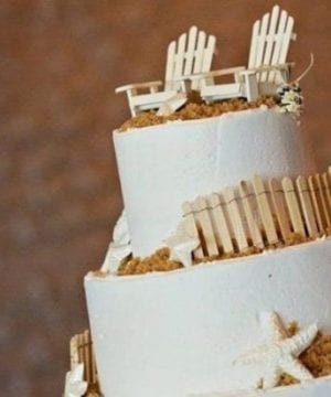 4-wood-adirondack-chairs-beach-wedding-cake-topper-300x360 50+ Beach Wedding Cake Toppers and Nautical Cake Toppers For 2020