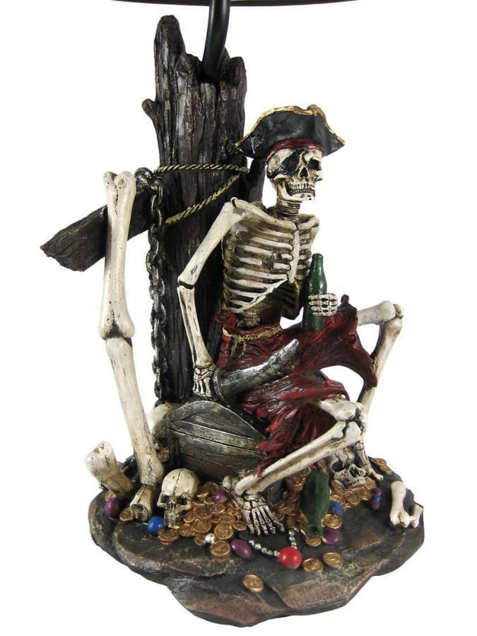 Pirate Skeleton Island Treasure Table Lamp