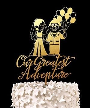 5-Gold-Our-Greatest-Adventure-Wedding-Cake-Topper-300x360 50+ Beach Wedding Cake Toppers and Nautical Cake Toppers For 2020