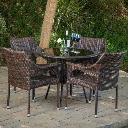 5-del-mar-outdoor-wicker-dining-set-450x450 Wicker Patio Dining Sets