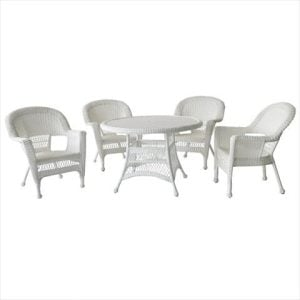 5-jeco-5pc-white-wicker-dining-set-300x300 Wicker Dining Tables & Wicker Patio Dining Sets