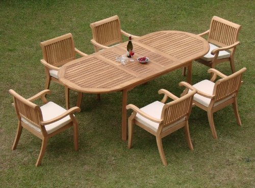 WholesaleTeak 7-PC Grade-A Dining Set
