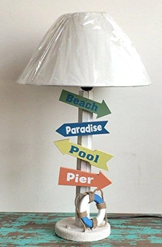 5-wood-direction-signs-beach-table-lamp Beach Themed Lamps