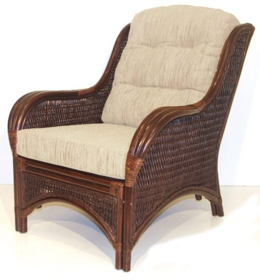 Rattan Cushioned Wicker Chair