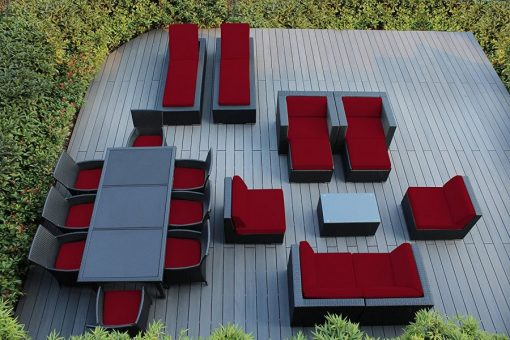 Ohana 20PC Outdoor Wicker Patio Furniture Set